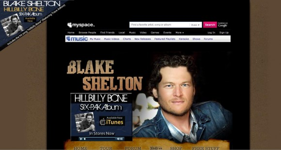 Blake Shelton MySpace
