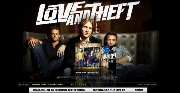 Love and Theft MySpace