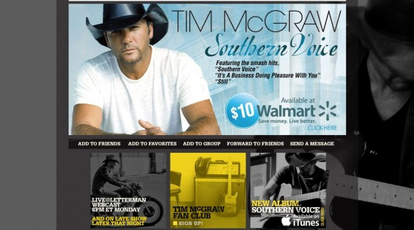 Tim McGraw MySpace