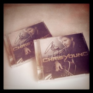 Chris Young Signed Neon